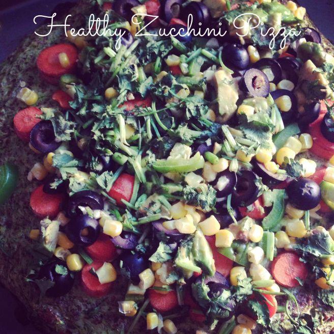 Healthy Zucchini Pizza